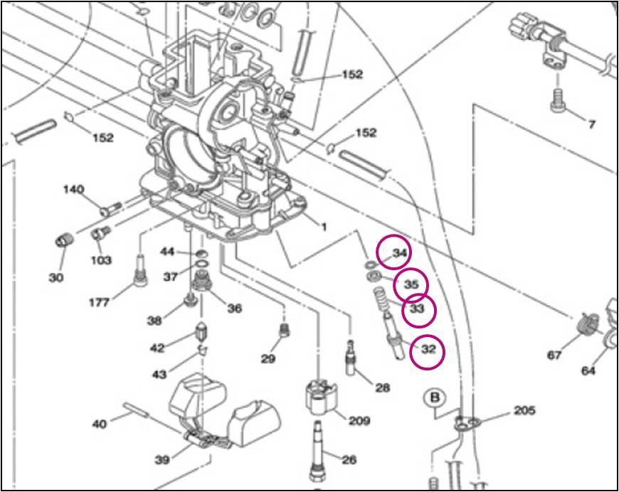 Kit parafuso do ar CR FLAT FCR-MX Original  - T & T Soluções
