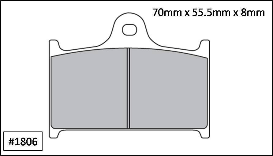 Kit pastilha de freio DIANTEIRA SUZUKI GSXR 1100 1989 até 1992  - T & T Soluções