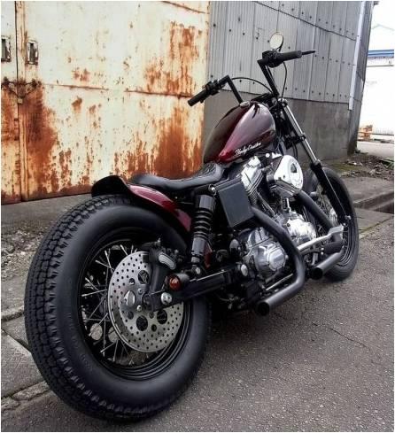 """Guidão Z-BAR 7"""" Harley Davidson 883 Preto Fosco  - T & T Soluções"""