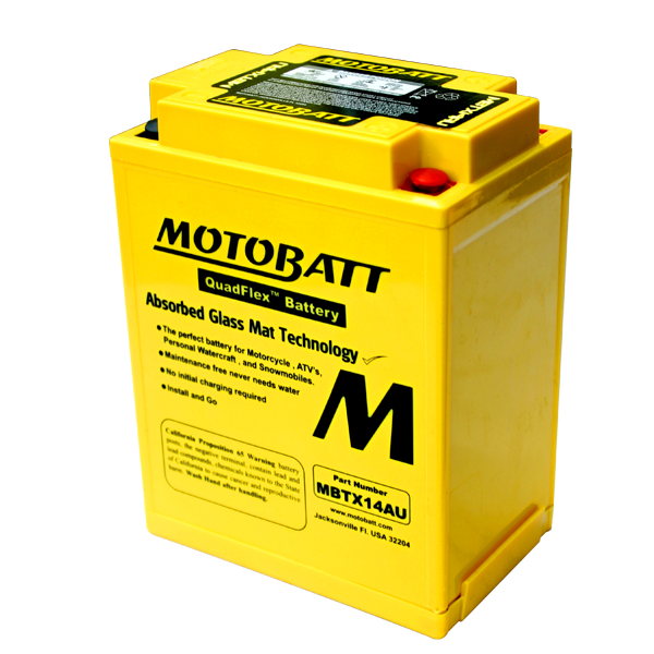 Bateria MOTOBATT MBTX14AU  - T & T Soluções