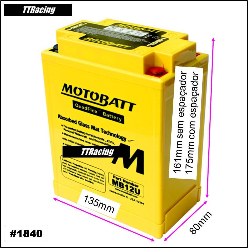 Bateria MOTOBATT MB12U  - T & T Soluções