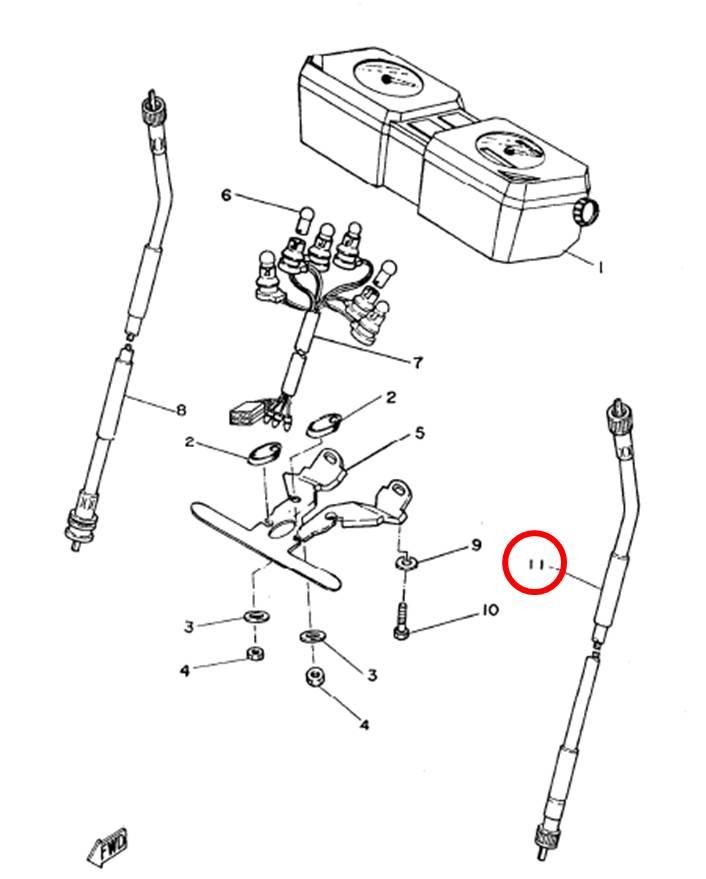 Cabo do velocímetro RD135Z RDZ 125 todas  - T & T Soluções
