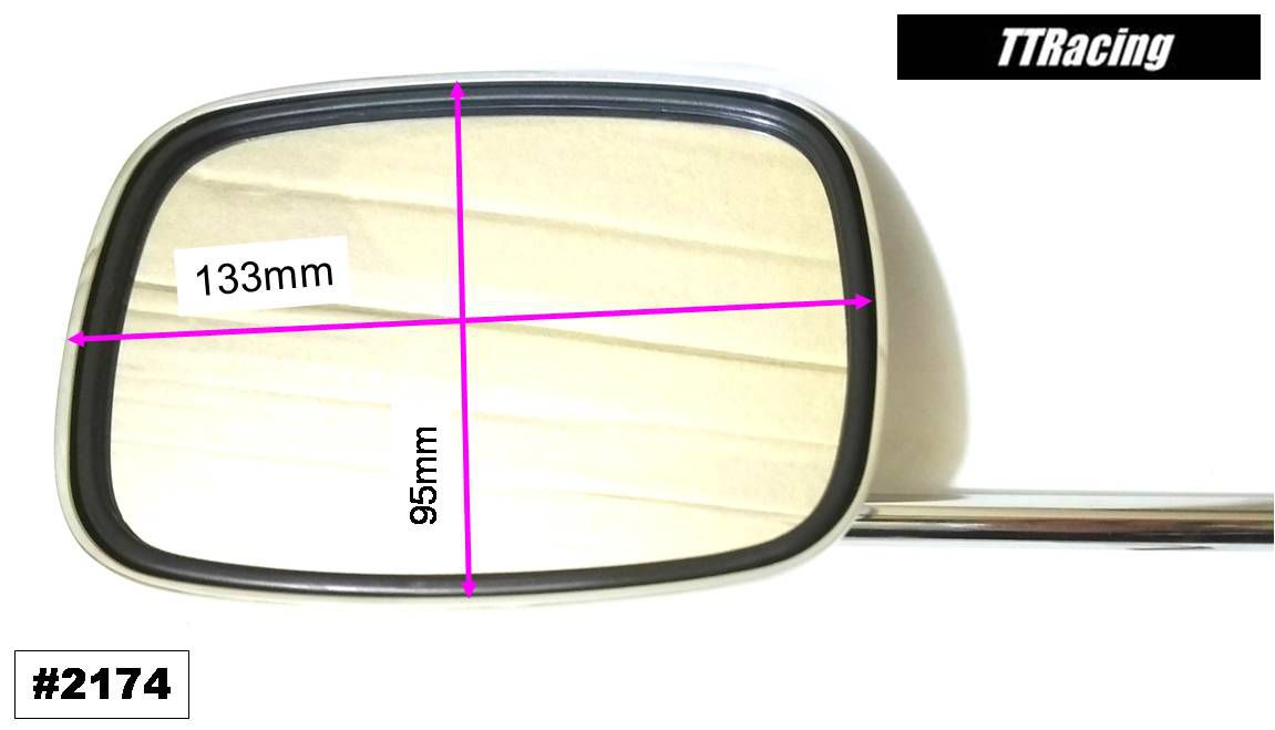 Espelho Retrovisor Harley Davidson Cromado Com Haste Fixa  - T & T Soluções