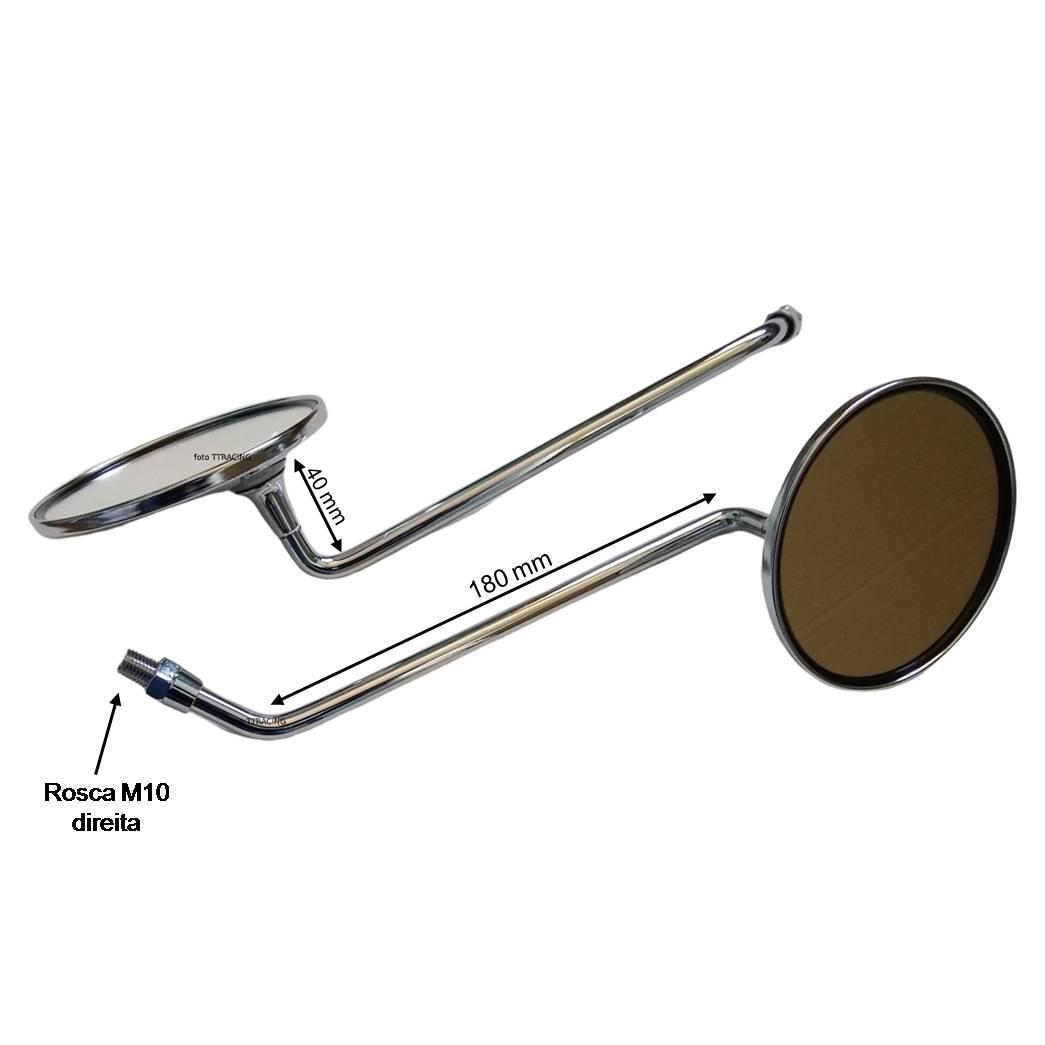 Espelho retrovisor Honda CB750 FOUR CB550 FOUR CB500 FOUR CB400 FOUR CB360 CB350  - T & T Soluções