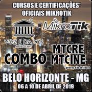 Belo Horizonte - MG - COMBO - Cursos e Certificações Oficiais Mikrotik - MTCRE + MTCINE