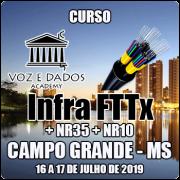 Campo Grande - MS - Curso Infraestrutura FTTx + NR35 + NR10