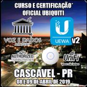 Cascavel - PR - Curso e Certificação* Ubiquiti UniFi - UEWAv2 - WiFi Avançado