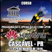 Cascavel - PR - Programação e Operação OLT/ONU GPON Huawei