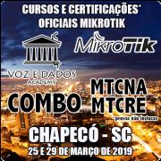 Chapecó - COMBO Certificações Oficiais Mikrotik - MTCNA E MTCRE
