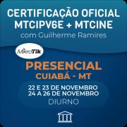 Combo Certificações Oficiais Mikrotik - MTCINE + MTCIPV6E com Guilherme Ramires - Presencial