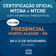 Combo Certificações Oficiais Mikrotik - MTCNA + MTCRE com Anderson Matozinhos - Presencial