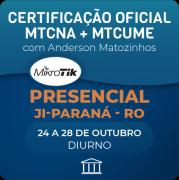 Combo Certificações Oficiais Mikrotik - MTCNA + MTCUME com Anderson Matozinhos - Presencial