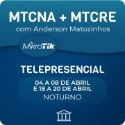 Combo Cursos MTCNA + MTCRE Oficial com Anderson Matozinhos - Telepresencial