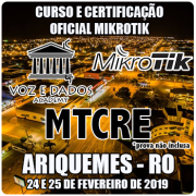 Ariquemes - RO - Curso e Certificação Oficial Mikrotik MTCRE