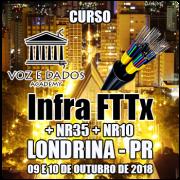 Londrina - PR - Curso Infra FTTx + NR35 + NR10