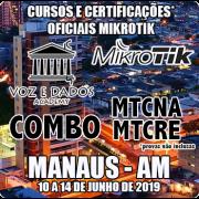 Manaus - AM - COMBO Certificações Oficiais Mikrotik - MTCNA E MTCRE