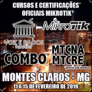 Montes Claros - MG - COMBO Certificações Oficiais Mikrotik - MTCNA E MTCRE