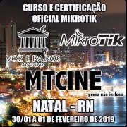 Natal - RN - Curso e Certificação Oficial Mikrotik - MTCINE