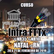 Natal - RN - Curso Infraestrutura FTTx + NR35 + NR10