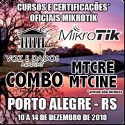 Porto Alegre - RS - COMBO - Cursos e Certificações Oficiais Mikrotik - MTCRE + MTCINE