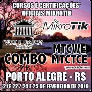 Porto Alegre - RS - COMBO Cursos e Certificações Oficiais Mikrotik MTCWE e MTCTCE