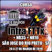 São José do Rio Preto - SP - Curso Infraestrutura FTTx + NR35 + NR10