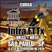 São Paulo - SP - Curso Infraestrutura FTTx + NR35 + NR10