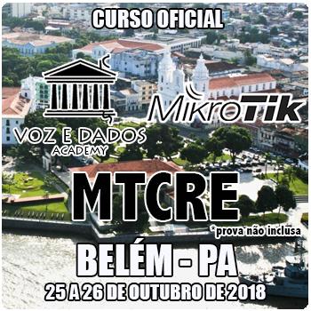 Belém - PA - Curso e Certificação Oficial Mikrotik MTCRE  - Voz e Dados