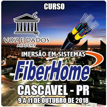Cascavel - PR - Imersão em Sistemas FiberHome  - Voz e Dados