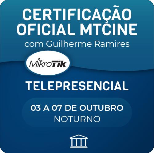 Certificação Oficial Mikrotik - MTCINE com Guilherme Ramires  - Telepresencial  - Voz e Dados Academy