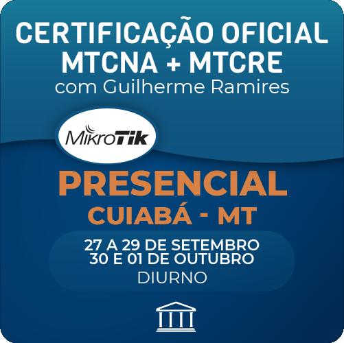 Combo Certificações Oficiais Mikrotik - MTCNA + MTCRE com Guilherme Ramires - Presencial  - Voz e Dados Academy