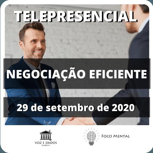 Curso de Negociação Eficiente - Telepresencial  - Voz e Dados