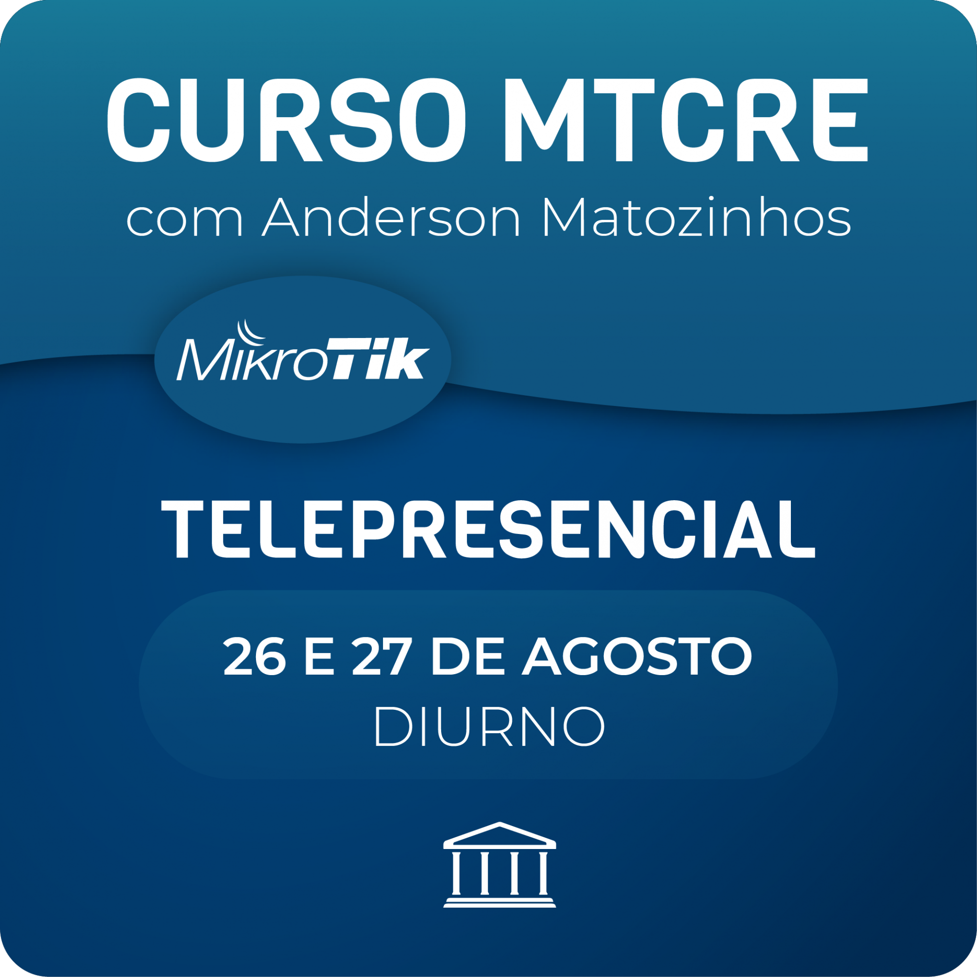 Curso MTCRE OFICIAL com Anderson Matozinhos - Telepresencial  - Voz e Dados Academy