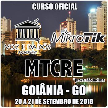 Goiânia - GO - Curso e Certificação Oficial Mikrotik MTCRE  - Voz e Dados