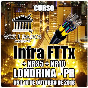 Londrina - PR - Curso Infra FTTx + NR35 + NR10  - Voz e Dados