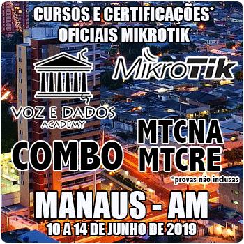 Manaus - AM - COMBO Certificações Oficiais Mikrotik - MTCNA E MTCRE  - Voz e Dados
