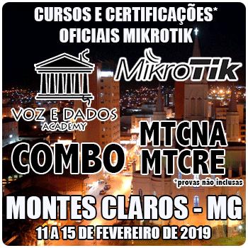 Montes Claros - MG - COMBO Certificações Oficiais Mikrotik - MTCNA E MTCRE  - Voz e Dados