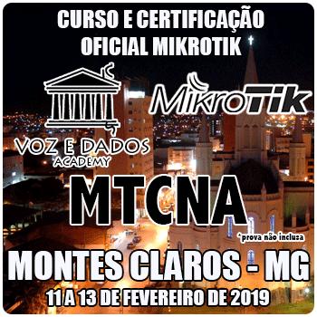Montes Claros - MG- Curso e Certificação Oficial Mikrotik - MTCNA  - Voz e Dados