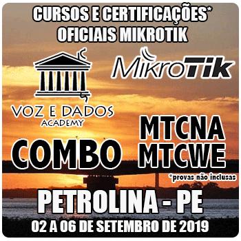 Petrolina - PE - COMBO Certificações Oficiais Mikrotik - MTCNA E MTCWE  - Voz e Dados