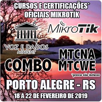 Porto Alegre - RS - COMBO Certificações Oficiais Mikrotik - MTCNA E MTCWE  - Voz e Dados