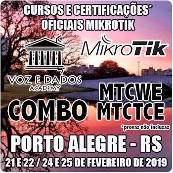 Porto Alegre - RS - COMBO Cursos e Certificações Oficiais Mikrotik MTCWE e MTCTCE  - Voz e Dados