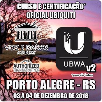 Porto Alegre - RS - Curso e Certificação* Oficial Ubiquiti - UBWA v2  - Voz e Dados