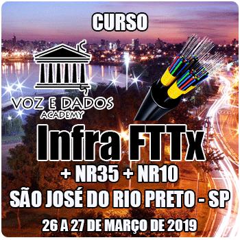 São José do Rio Preto - SP - Curso Infraestrutura FTTx + NR35 + NR10  - Voz e Dados
