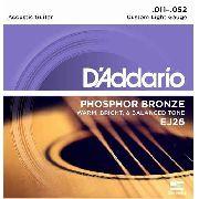 Encordoamento D'addario Violão Aço EJ26 Phosphor Bronze 011-052