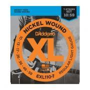 Encordoamento para  Guitarra 7 Cordas Daddario EXL110-7