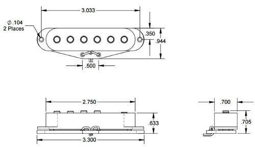 Captador Seymour Duncan SSL1 Staggered Strat