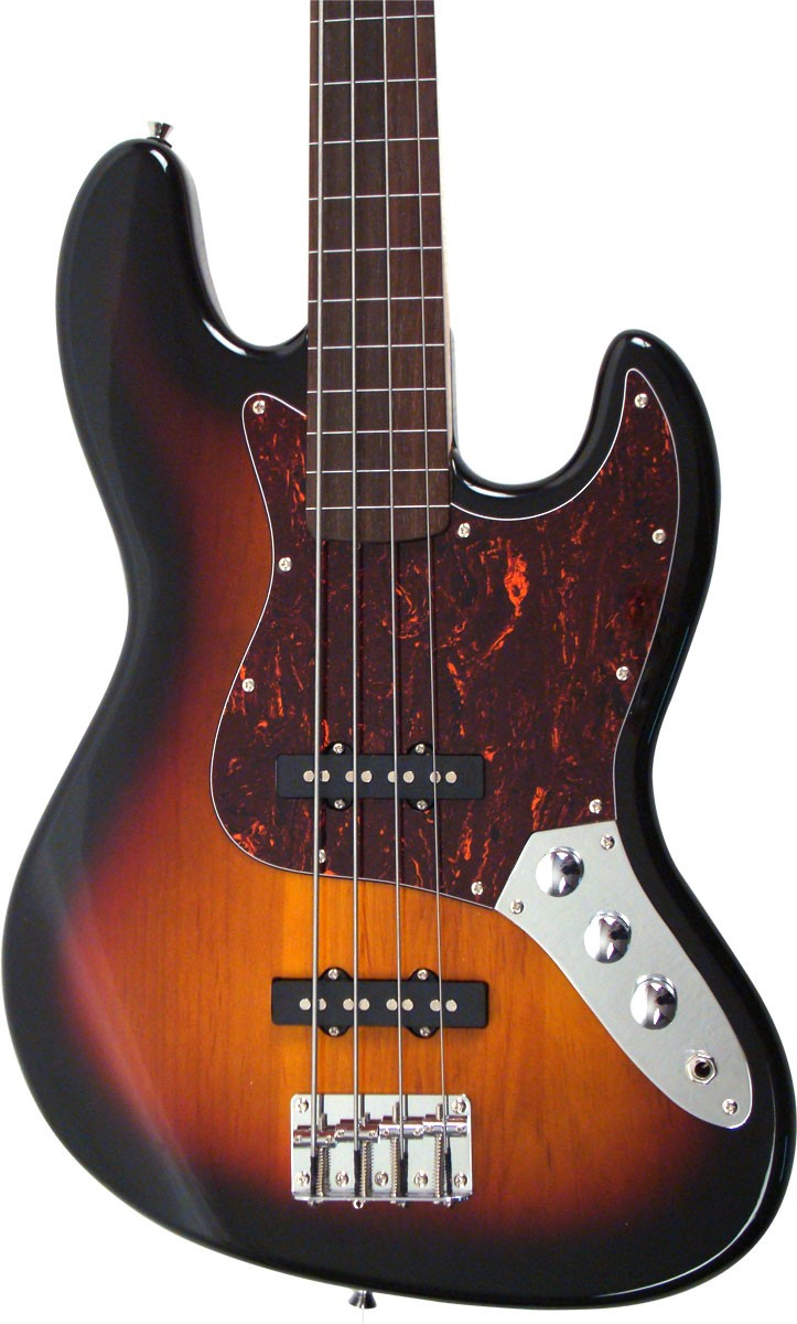 Baixo SX Jazz Bass SJB62FTOR 3TS Fretless