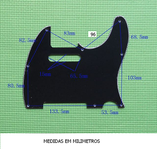 Escudo para Guitarra Telecaster Mint Green