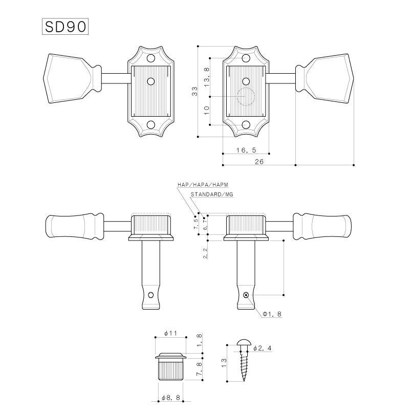 Tarraxas Gotoh SD90 SL 3x3 NI