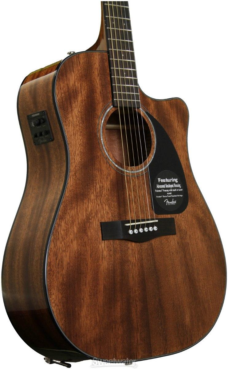 Violão Fender Elétrico Folk CD60CE Mahogany